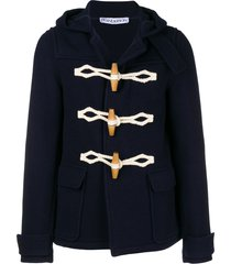 jw anderson hooded short duffle coat - 888 navy