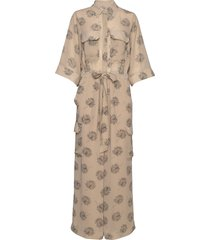 macco leaf jumpsuit beige line of oslo
