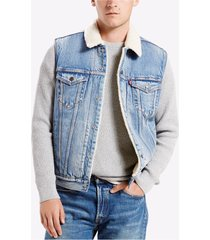 levi's men's classic regular fit sherpa trucker vest youngstown 0003
