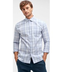 skjorta i linne/bomullsblandning