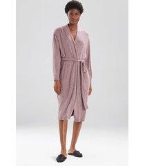 soho brush sleep/lounge/bath wrap/robe, women's, grey, size l, n natori