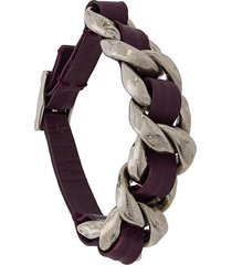 chanel pre-owned 2002 woven detail bracelet - purple