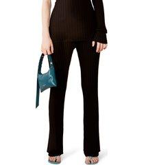 women's rib by simon miller welton high waist bell bottom pants