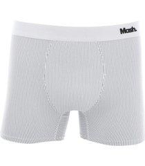 cueca boxer microfibra risca de giz - branco - masculino - dafiti