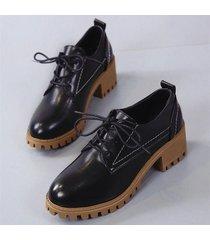2018 mujeres de primavera estilo de gran bretaña zapatos oxford