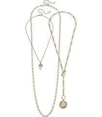 women's canvas jewelry set of 3 stackable necklaces