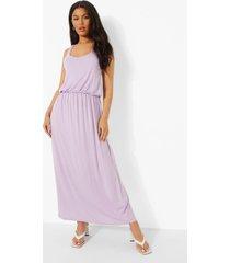 maxi jurk met racer rug, lilac
