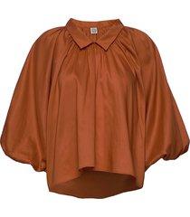 kerala blouse lange mouwen oranje totême