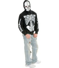 buyseasons men's skeleton hoodie adult costume