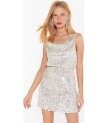 womens born to sequin high-waisted mini skirt - silver