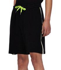contrast drawstring logo shorts