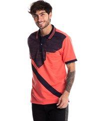 camiseta tipo polo,coral,audax