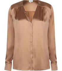 zijden blouse kalea  brons