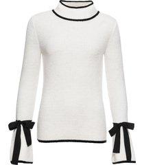 maglione con colletto dritto (bianco) - bodyflirt