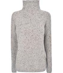a punto b high-neck woven sweater