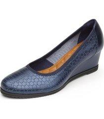zapato mujer margot azul flexi