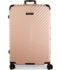 karl lagerfeld paris textured 31-inch hardside suitcase - blush
