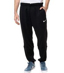 pantalón negro nike dry pant taper fleece