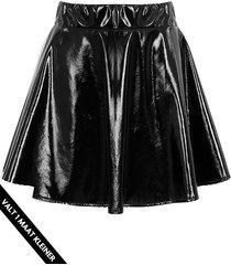 lak rok dames zwart