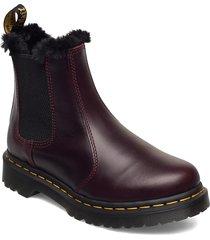 2976 leonore oxblood atlas shoes chelsea boots röd dr. martens