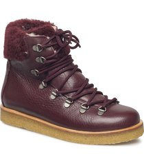 boots - flat - with laces shoes boots ankle boots ankle boots flat heel röd angulus