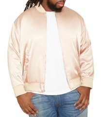 men's big & tall mvp collections satin bomber jacket