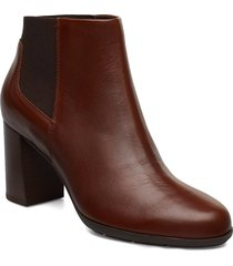 d new annya b shoes boots ankle boots ankle boot - heel brun geox