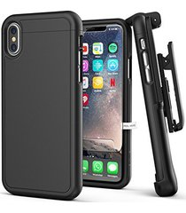 iphone x belt case w/ screen protector, encased [slimshield series] protective g
