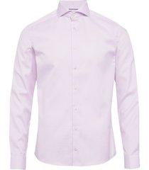 melange micro weave shirt overhemd business roze eton