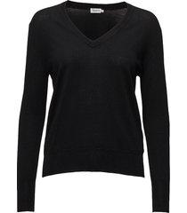 merino v-neck sweater gebreide trui zwart filippa k