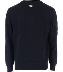 mens diagonal raised fleece crew sweatshirt