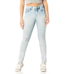 calça denim zero feminina skinny média clara jeans