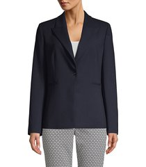 elie tahari women's limani single-button blazer - stargazer - size 12
