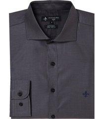 camisa dudalina ml fio tinto maquinetada masculina (cinza claro, 7)