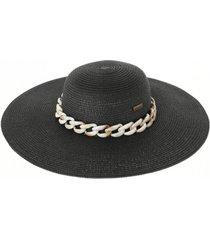 sombrero cadena carey negro humana