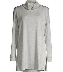 stretch terry turtleneck tunic