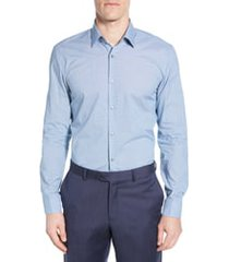 men's boss slim fit solid dress shirt