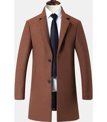 trench coat da uomo in lana da uomo casual in lana