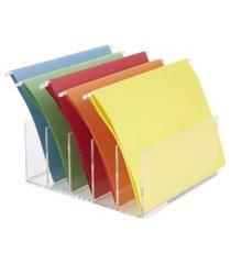 mind reader 5 compartment acrylic file holder, file folder sorter