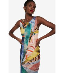 abstract short dress minerva - material finishes - xxl