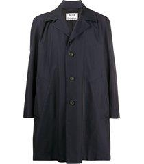 acne studios oversized single-breasted coat - black