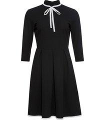 abito di jersey con maniche a 3/4 (nero) - bodyflirt