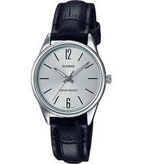 reloj casio ltp_v005l_7b negro cuero
