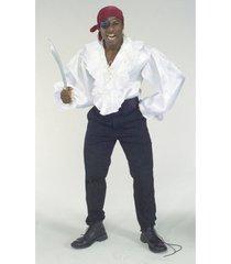 buy seasons men's satin pirate shirt costume