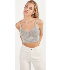 metallic tricot top