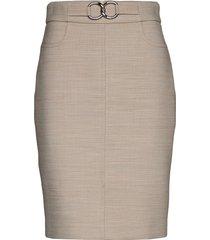 fina 55t skirt knälång kjol beige andiata