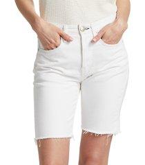 rag & bone women's maya high-rise shorts - worn white - size 25 (2)