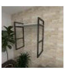 prateleira industrial para sala aço cor preto prateleiras 30 cm cor cinza modelo ind15csl