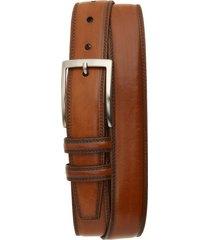 men's big & tall torino kipskin leather belt, size 46 - walnut