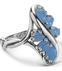 carolyn pollack blue jade cascading ring in sterling silver